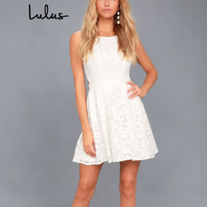 Lulu's - 'Daisy Date' Lace Skater Dress